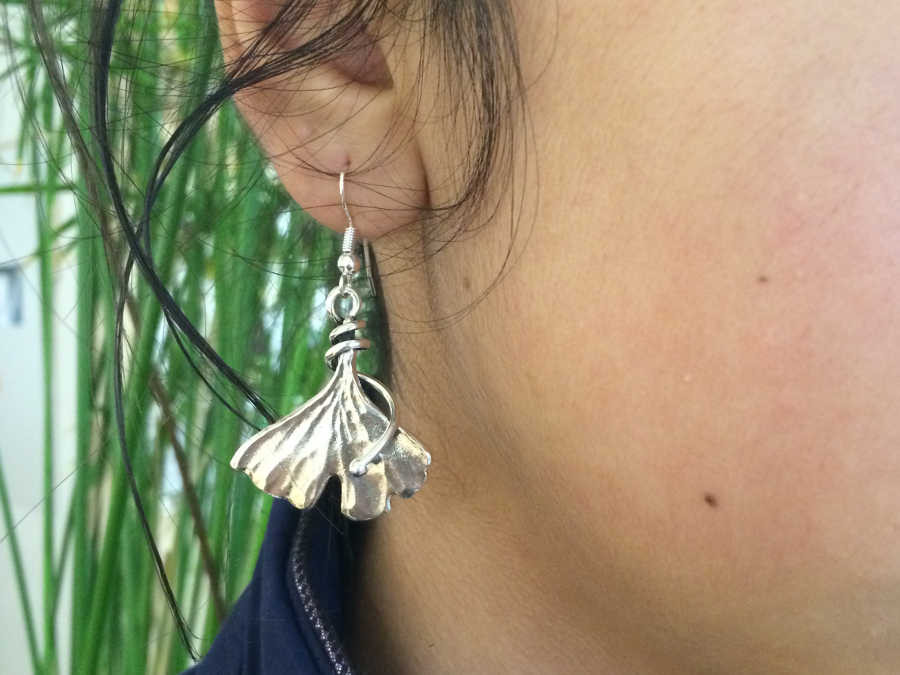 Earrings Arbre de vie Silver plated patinated
