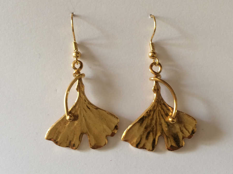 Earrings Arbre de vie Gold plated patinated