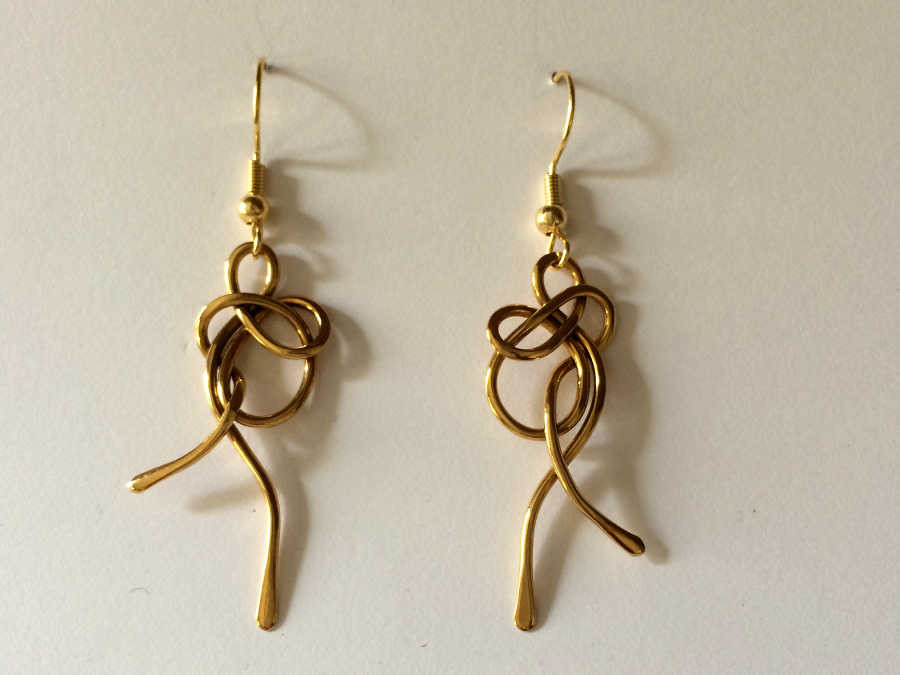 Earrings Jeanfre Gold plated patinated