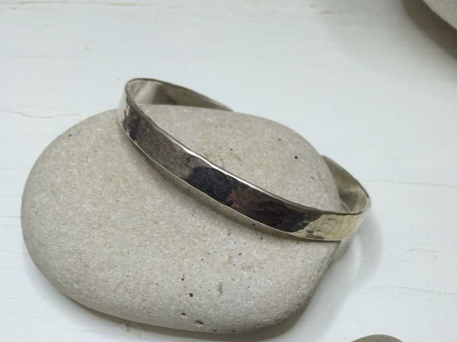 Bracelet Empreinte Silver plated patinated