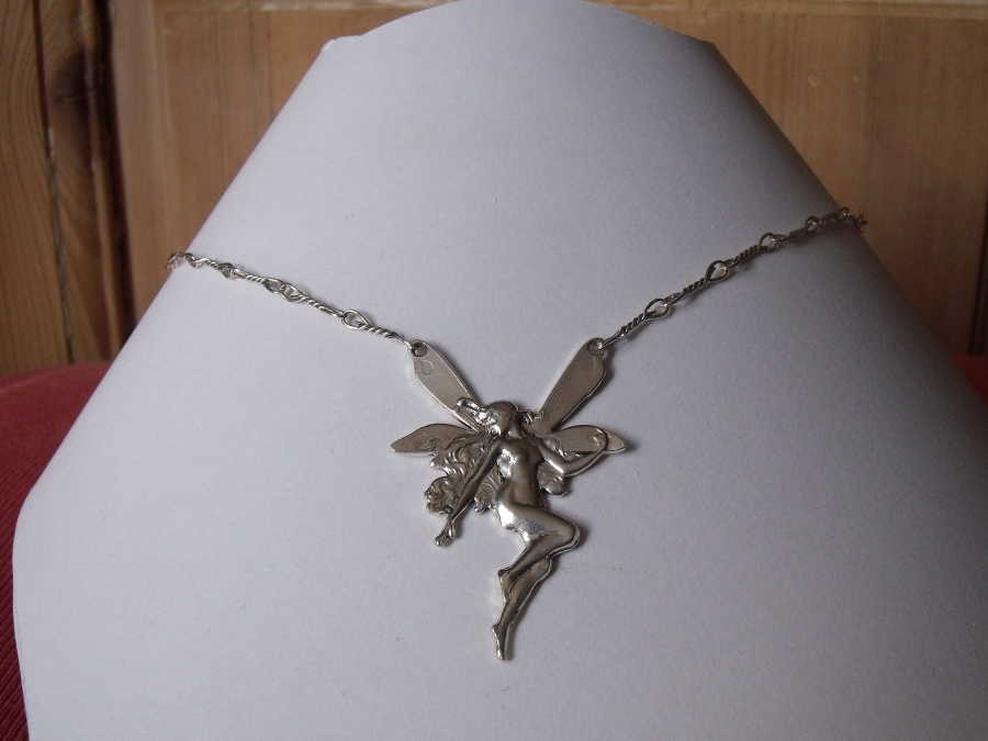 Necklace Simplicité Silver plated patinated