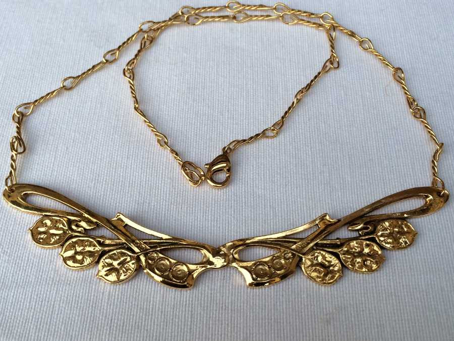 Necklace Monnaie du pape Gold plated patinated