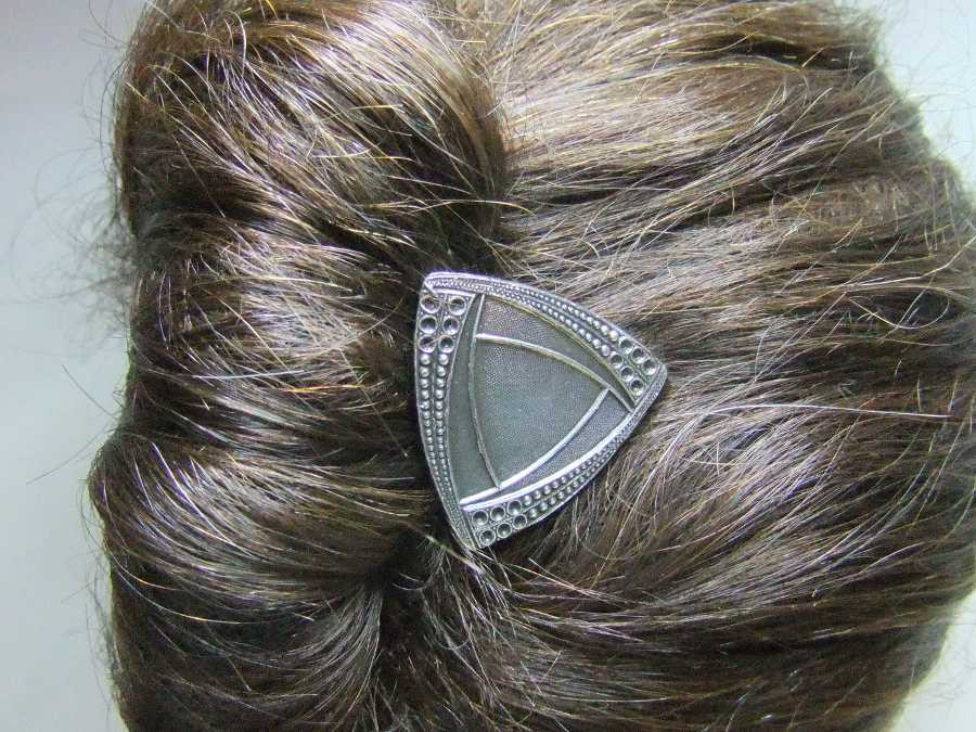 Hairpin Lalou Silver plated patinated