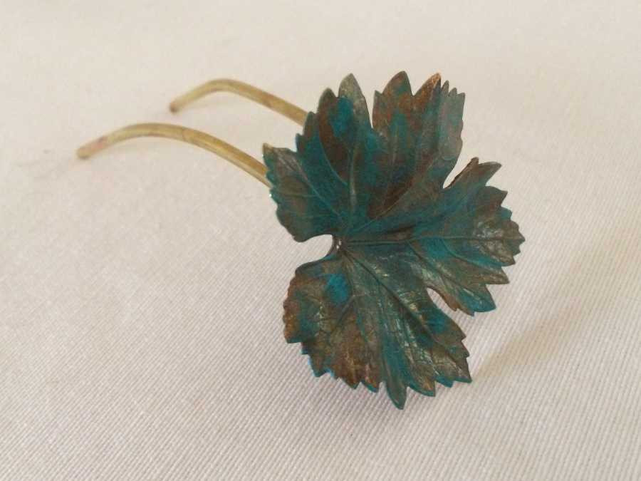 Hairpin Feuille de vigne Gross polished