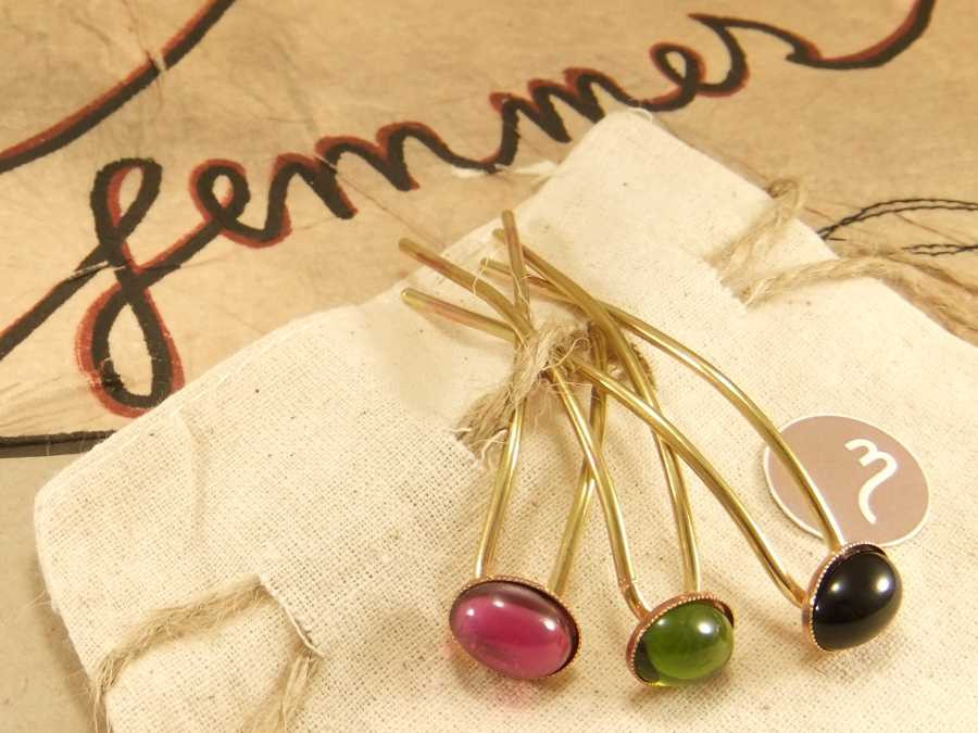 Small Hairpins En couleur Gross polished