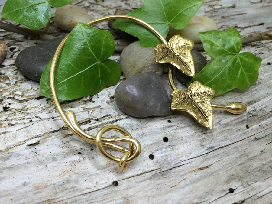 Ear Wrap Compo Gold plated patinated